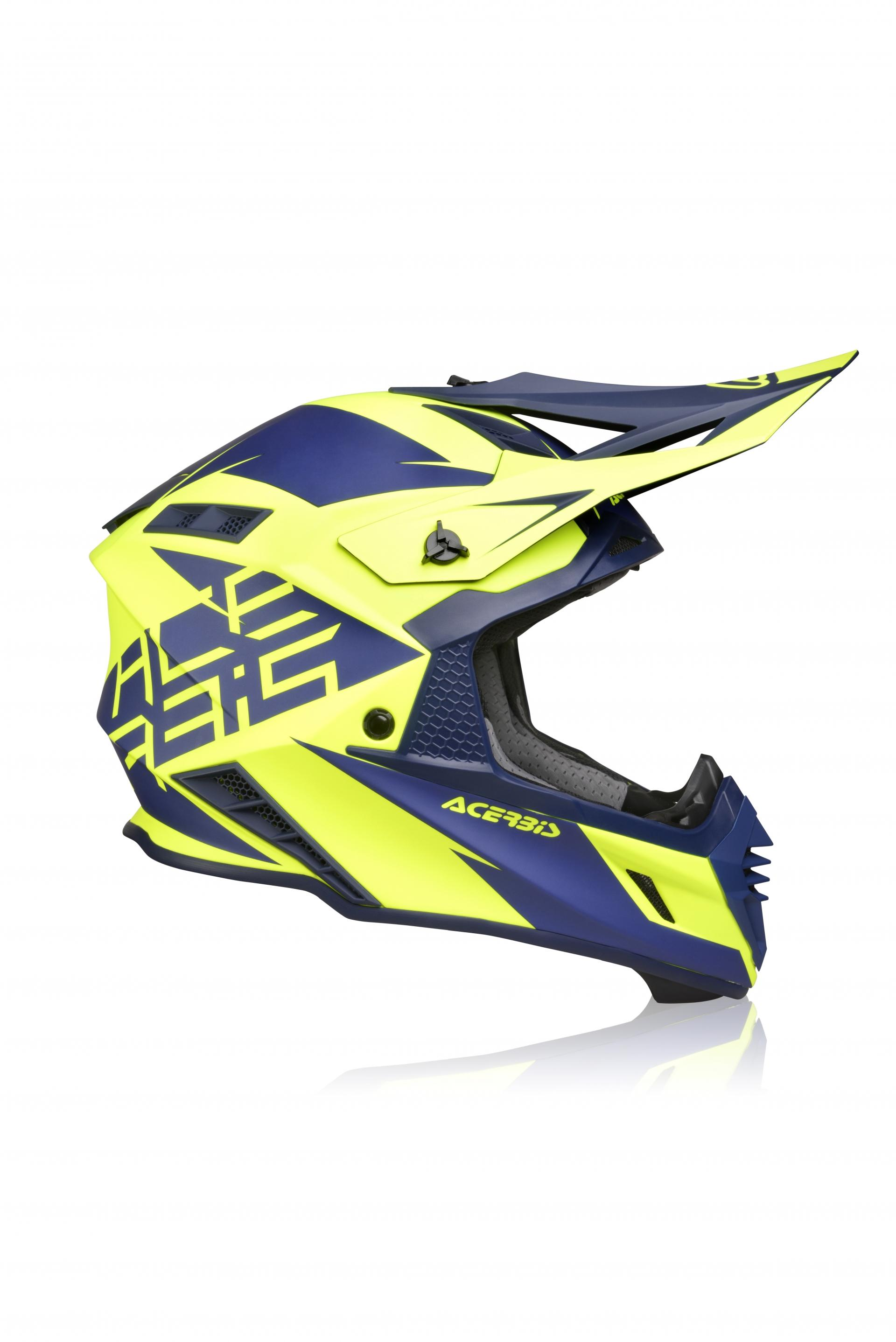 HELMET X-TRACK BLUE YELLOW