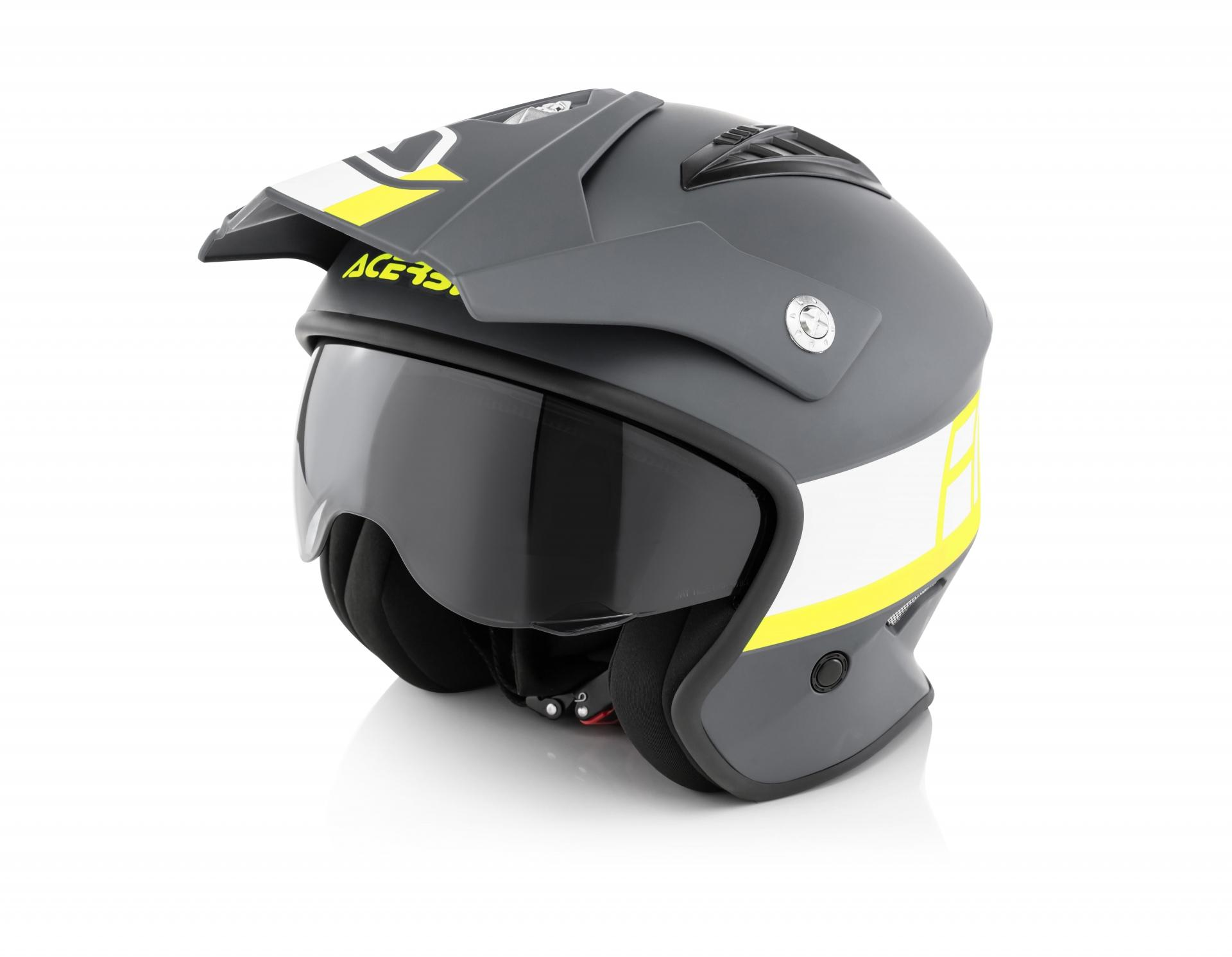 helmet jet aria black/yellow 066